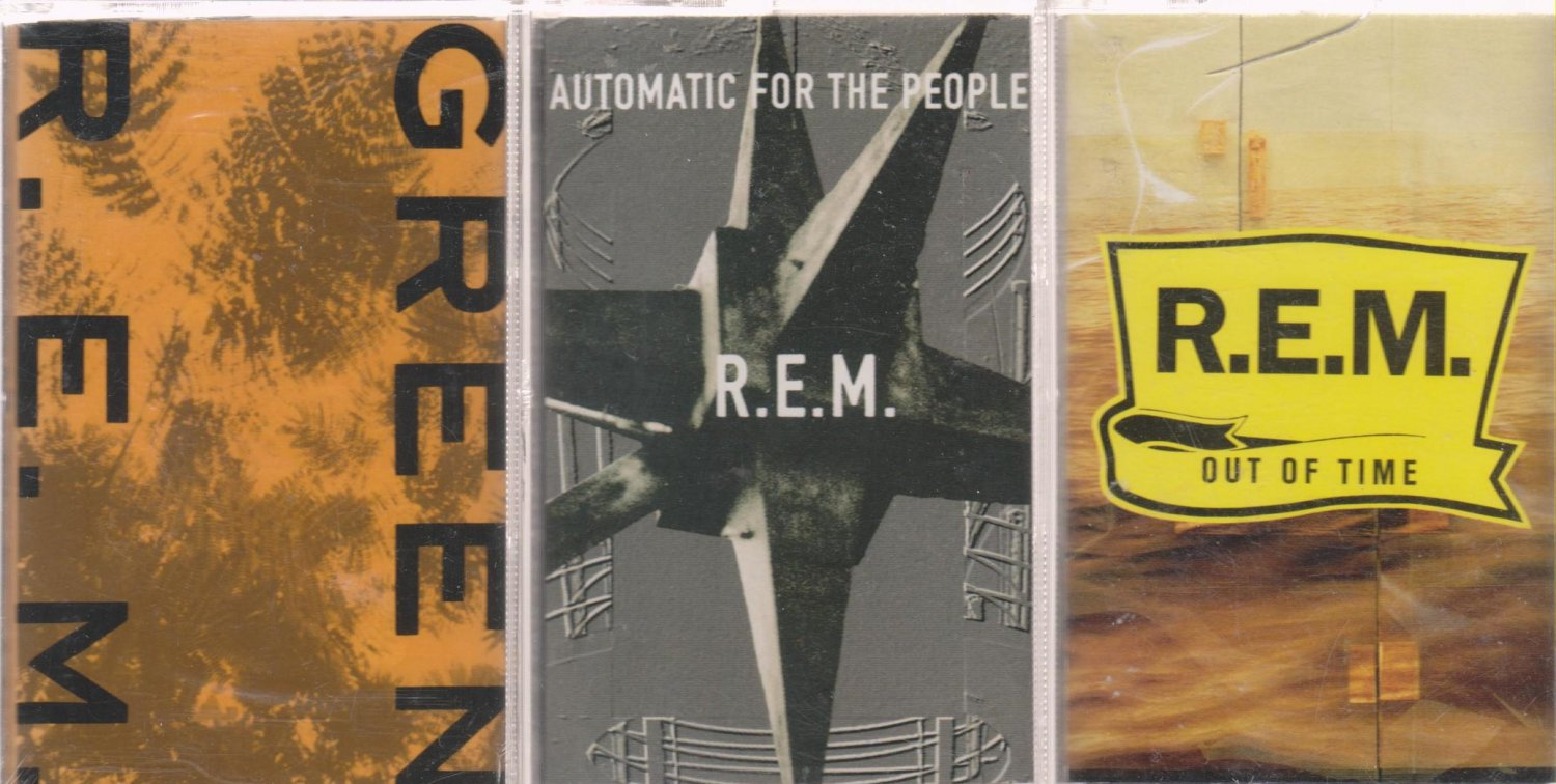 R.E.M. CASSETTE LOT (3) GREEN & OUT OF TIME, automatic for the people