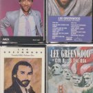 LEE GREENWOOD CASSETTE LOT (4)-GREATEST HITS & YOU'VE GOT A GOOD LOOVIN COMIN