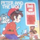PETER PAN BOOK & RECORD #1953-PETER AND THE WOLF-45RPM