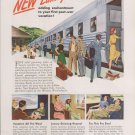 NEW YORK CENTRAL RAILROAD NEW LUXURY COACHES ART PRINT AD
