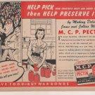 M.C.P. Pectin Vintage Magazine AD