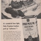 Vintage NABISCO Premium Crackers Salted Magazine Ad