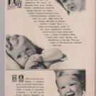 vintage Gerber's baby food magazine b&w print ad