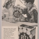 Vintage Ritz Crackers Magazine Advertisement