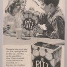 Vintage Ritz Crackers Magazine Advertisement