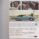Vintage Magazine Print Ad 1967 Chevrolet Caprice