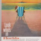 Vintage Florida Tourism Advertisement Look Who's In Florida