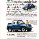 1992 Suzuki advertisement, SUZUKI SIDEKICK 4x4, Florida, driving on beach