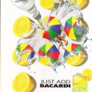 1992 Just Add Bacardi Rum Lemons Lemonade Print Ad