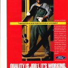 original 1992 Ford Quality Is Job 1 Advertisement