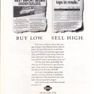buy low. sell high.  nissan maxima magazine ad