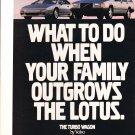 1990 Volvo 740 Turbo Wagon Lotus Esprit Original Advertisement Car Print Ad