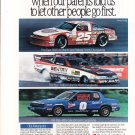 1990 Oldsmobile Motorsports Original Magazine Advertisement, NASCAR, NHRA, IMSA