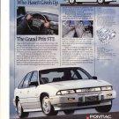 1990 Pontiac Grand Prix STE Classic Advertisement Ad
