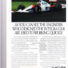 vintage acura magazine advertisement