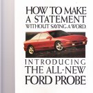 ford probe 1992 magazine advertisement how to make a statement
