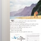Fly The Friendly Skies United Airlines vintage magazine advertisement