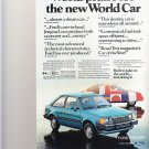 World Praise for the new World Car Magazine Advertisement