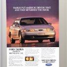 Ford Taurus Vintage Magazine Advertisement