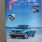 Vintage Toyota Tacoma Magazine Advertisement