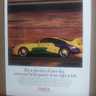 Toyota Motor Sports Vintage Magazine Advertisement