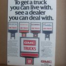 Vintage Gmc Truck Magazine Advertisement