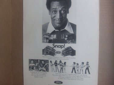 Vintage Ford Magazine Advertisement (Bill Cosby)