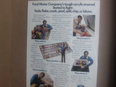 Vintage Ford Magazine Advertisement with Bill Cosby