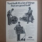 """Bill Cosby """"Ford Built"""" Magazine Advertisement"""
