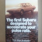 1985 Subaru Vintage Magazine Advertisement