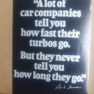Lee Iacocca Quote Vintage Magazine Advertisement