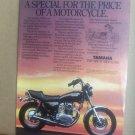 Yamaha XS650 Special II 2 XS400 vintage motorcycle advertisement 1981
