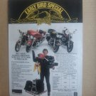 Harley Davidson Early Bird Special Magazine Advertisement