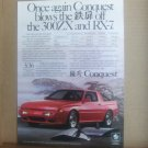Vintage Chrysler Conquest Magazine Advertisement