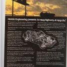 Honda Civic Magazine Advertisement