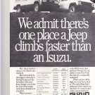 Vintage isuzu Trooper II Magazine Advertisement