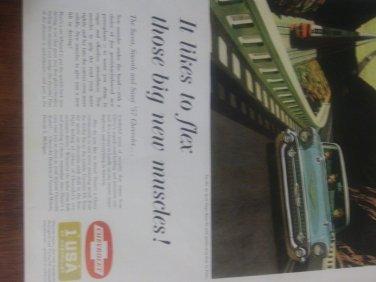 Vintage 1957 Chevrolet Magazine Advertisement