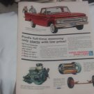 1962 Ford F-100 Pickup Truck original vintage advertisement.