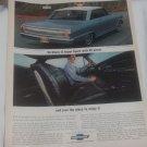 Vintage Magazine Print Ad 1964 Chevy II Super Sport