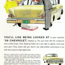 Vintage 1958 Chevrolet Chevy Biscayne Car Magazine Print Advertisement