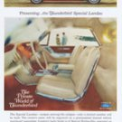 VINTAGE 1966 FORD THUNDERBIRD SPECIAL LANDAU MAGAZINE AD