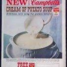 Vintage Magazine Print Ad Campbell's Potato Soup