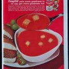 VINTAGE CAMPBELL'S TOMATO SOUP MAGAZINE PRINT ADVERTISEMENT