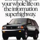 1995 1994 Honda Passport - Original Car Advertisement Print Ad