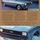 1980 TOYOTA COROlLA TERCEL advertisement, Toyota Corolla 2-door