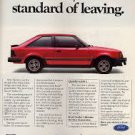 Ford Escort Turbo GT Vintage Magazine Advertisement