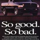 1996 Dodge Ram Sport - so good so bad - Vintage Advertisement Ad