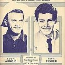 """EDDY ARNOLD and EDDIE FISHER """"Any Time"""" vintage sheet music"""