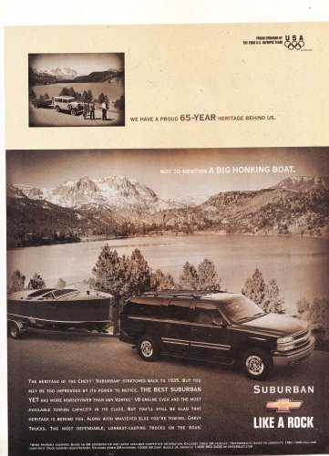 Chevy Suburban Magazine Advertisement Like a Rock