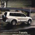 Mitsubishi Montero Magazine Advertisement